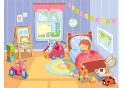 儿童房间卡通漫画图片