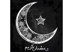 开斋节月亮星星花纹