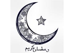 开斋节星星月亮图案
