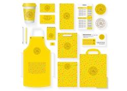 黄色餐厅VI设计