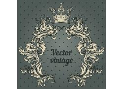 古典花纹皇冠背景