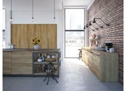 厨房装修3D效果图