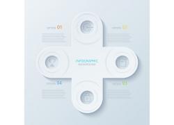 白色立体圆环图表
