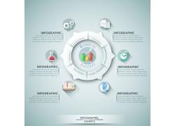 立体商务圆环图表
