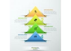 绿蓝三角形图表