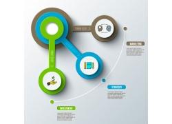 创意立体圆环图表