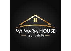 金色房子logo设计