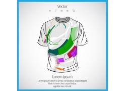 彩色几何T恤模板