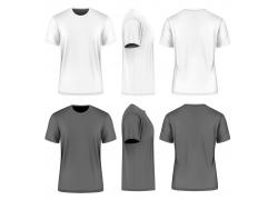 白色和灰色T恤