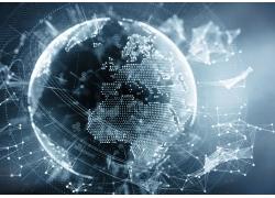 转动的科技地球