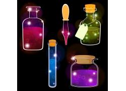 玻璃瓶里的彩色液体