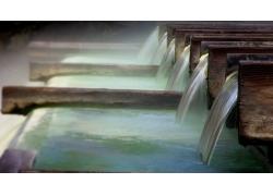 美丽瀑布水流风景