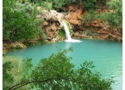 旅游景区瀑布摄影