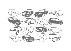手绘汽车标志