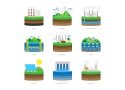 生态环保工厂漫画