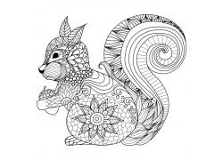卡通松鼠插画图片