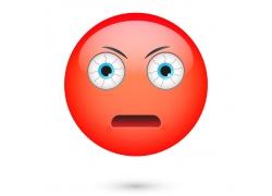红色人物卡通表情图片