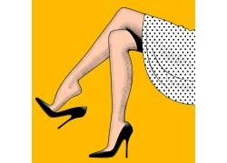 性感美腿插画图片