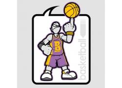 卡通篮球运动员图片