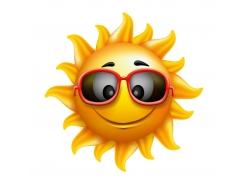 戴墨镜的卡通太阳