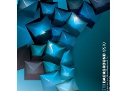 蓝色立体几何背景