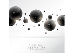 黑色球体抽象背景