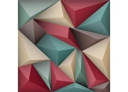 彩色立体三角形背景
