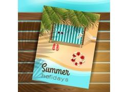 夏日海报沙滩背景