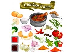 卡通蔬菜食材漫画图片