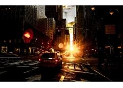 夕阳下的城市