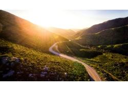 美丽公路日出风景