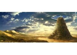 沙漠山峰风景