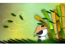 卡通熊猫插画设计