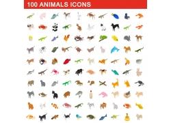 卡通动物漫画图标图片