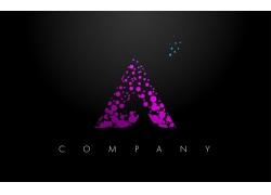 紫色圆点字母A标志