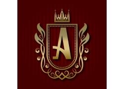 皇冠金色字母A标志