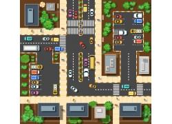 停车场和房屋平面图
