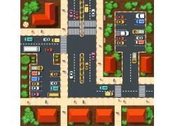 停车场和房屋