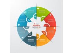 彩色圆环标签信息图表