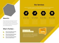 黄色折页设计图片
