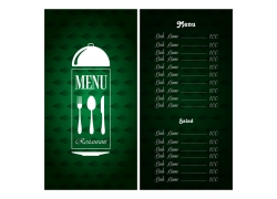 餐厅绿色菜单价格表