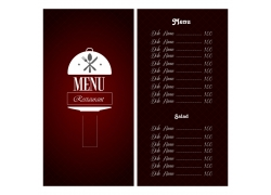 西餐厅菜单表