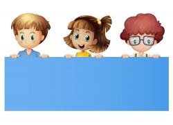 卡通儿童展板背景