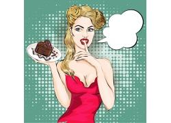 端蛋糕美女