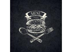 汉堡包美食素描
