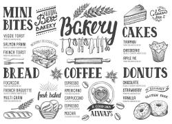 美食素描插画