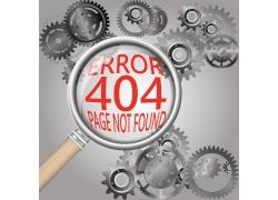 齿轮404页面设计图片