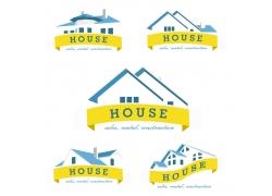 房屋和飘带
