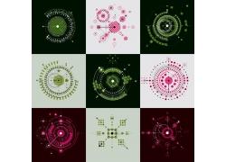网络科技几何图素材