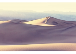 白色的沙漠风光